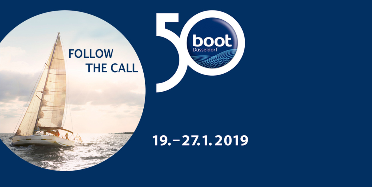 50° della Fiera Boot di Dusseldorf, RIGGservice, progettazione e installazione di sartiame, idraulica e attrezzatura di coperta, Chiavari, Italia
